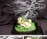 Coral Wind Swept - Wire Tree Sculpture