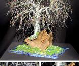 Bonsai Island #2 - Beaded Wire Tree Sculpture