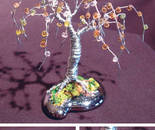 Beaded Willow - Mini Wire Tree Sculpture