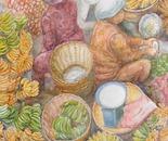 Banana Sellers - Watercolor on watercolor paper - 20in x 28in