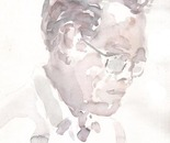 A Friend of Mine in  Watercolor Sketch - wtercolor on paper - 8in x 12in