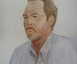 Self-portrait - Watercolor on watercolor paper - 20in x 28in