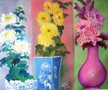 chrysanthemums trio