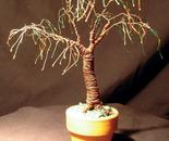 UMBRELLA BONSAI - Mini Wire Tree Sculpture, by Sal Villano