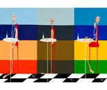 POLITTICO-I 7 VIZI CAPITALI- 210X60 ACRYLIC -2011