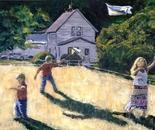 Farm Kids and Kites