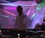 raggi laser in discoteca