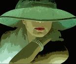 donna con cappello verde
