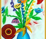 Plastic flowers and Mask/Fiori di plastica con maschera