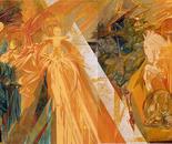 Mural painting: Fragment: Central scene