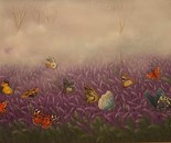 40x80 cm lavenders and butterflies