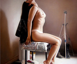 on chair
