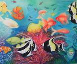 SOTTO IL SEGNO DEI PESCI (oil on canvas 100x120/2011)