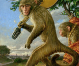 Monkey with a Mandolin_18x24_oil on linen