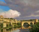 Clearing Sky Over St.Martin's Bridge_Toledo, Spain
