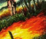 """Harvest"",80x62"",oil on canvas."