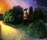 """Lincoln Park"",62x80"",oil on canvas."