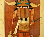 Kachina Wooden Door