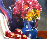 still life feast of color