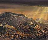 Volcanoes of Venus (gouache, 1990)