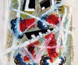 Num. 1401  Mi arte atraves del Mundo 16.5 x 19 in. 2011 Mixed on media.