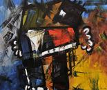 Num. 1357 Antifona Oil on Canvas 69 x 79 in. 2010