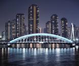 Illuminated Eitai-bashi Bridge 1926