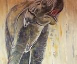 olifantje acryl 75 x 115 cm