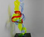 ADN LOVING COUPLE, 2012 Plexiglas 32 x 93 cm Pièce unique