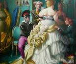 ESSAYAGE oil on canvas 150 x 150 cm