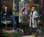 PORTRAIT OFFICIEL oilon canvas 200 x 200 cm