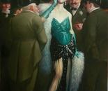LA GRANDE ZOA oil on canvas 100 x 73 cm