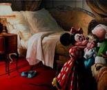 L'ENFANT ET LES SORTILEGES oil on canvas 97 x 146 cm