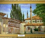 Hansky Palace in Bakhchisarai. Crimea. The Bakhchsarai fountain