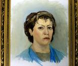 Portrait of the friend of wife Irina
