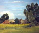 Huts in a Bryansk village