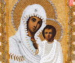 Mother of God Kazan a tree beads 20+30