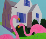 House with Pink Flamingos