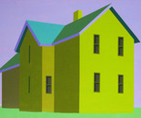 Colonial in Purple and Green