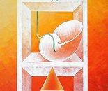 Sul bordo scivola_acrilico su tavola cm. 70 x 50