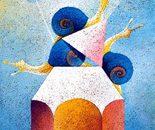 Triade_acrilico su sughero_cm. 70 x 50