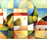 Paesaggio calabrese_pastelli policromi su cartoncino Fabriano