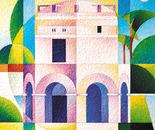 Mausoleo di teodorico_acrilico su carta vinilica_cm.70 x 70