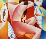 Il sogno_acrilico su tavola sabbiata di cm. 70 x 70