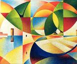 Paesaggio con barca_acrilico su tavola sabbiata cm. 70 x 50