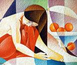 Figua assopita_acrilico su carta vinilica_cm. 50 x70