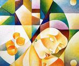 Figua assopita_acrilico su tavola sabbiata_cm. 60 x 60_cm. 50 x70