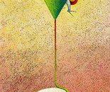 Il filo della speranza_acrilico su sughero cm.35 x 60