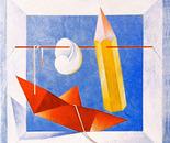 Tirata su_acrilico su tavola cm.40 x 40