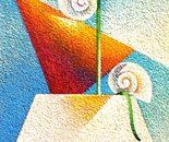 Sull'asse_acrilico tavola sabbiata cm.40 x 20